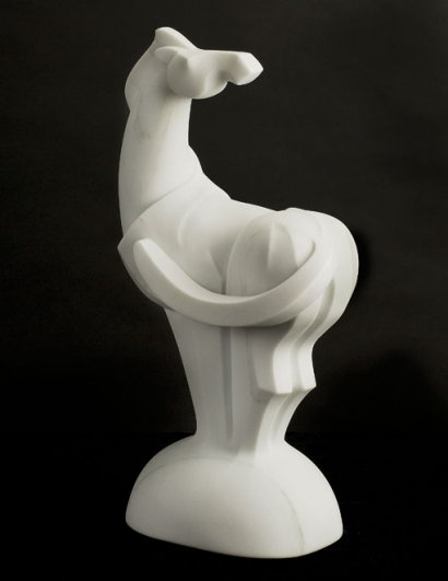 A Kiss to the Wind, sculpture by Ellen Woodbury