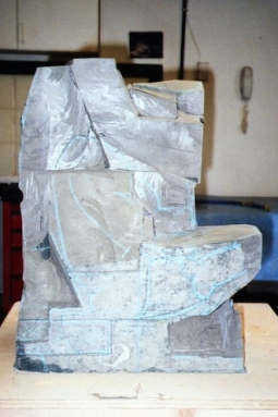 Nature's Paradox, step 2, sculpture in process by Ellen Woodbury