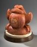One Handsome Frog, sculpture by Ellen Woodbury
