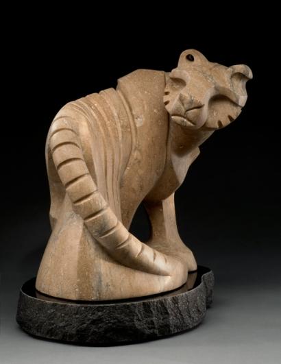 Save the Tiger, sculpture by Ellen Woodbury