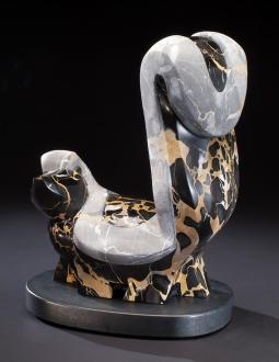 Uptown Skunk, sculpture by Ellen Woodbury