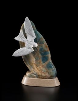Sky Life, sculpture by Ellen Woodbury