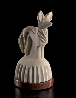 Sun Dog, sculpture by Ellen Woodbury