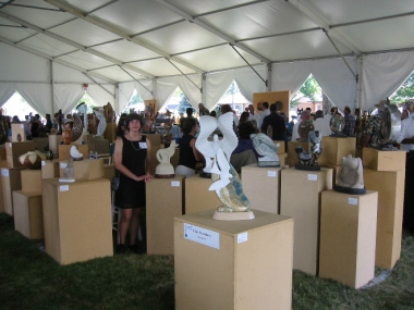 Ellen Woodbury's booth at Loveland Sculpture in the Park, 2011.