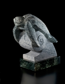 The Last Dinosaur, sculpture by Ellen Woodbury