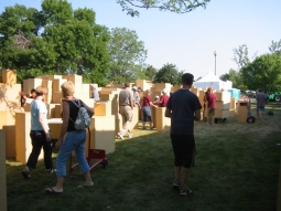 Sculpture in the Park 2012 Selecting pedestals for the show