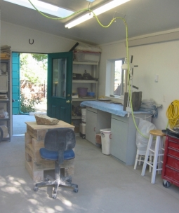 Ellen Woodbury's Studio: View From Loading Doors