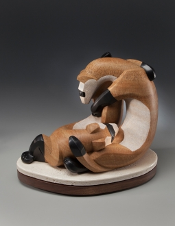 Mobius Ferrets, sculpture by Ellen Woodbury