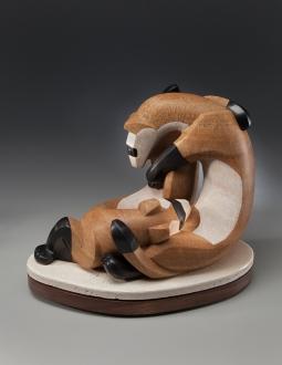 Mobius Ferrets, sculpture by Ellen Woodbury