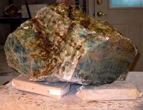 Ellen Woodbury Sculpture Stone: Andes Blue Onyx