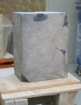 Ellen Woodbury Sculpture Stone: Belgium Black Marble