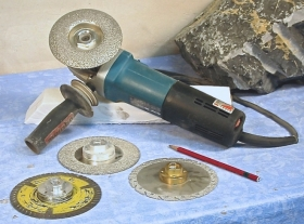 Ellen Woodbury Sculpture Tools: 5-inch Angle Grinder and Diamond Blades