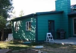 Ellen Woodbury Creative Process: Studio, Main entrance on the patio slab.