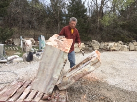 Myles Schachter, 2Sculpt: Splitting a Large Stone