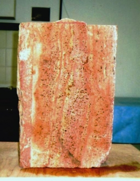 Ellen Woodbury Sculpture Stone: Persian Red Travertine