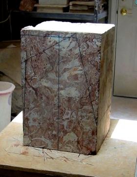 Ellen Woodbury Sculpture Stone: Rojo Balboa Marble