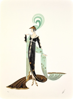 Erte Dress Serigraph