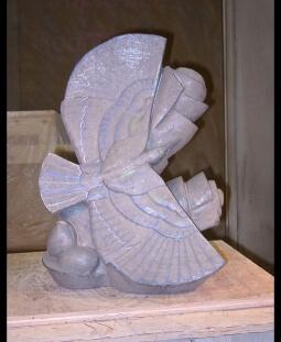 A Tree Needs a Bird, step 5, sculpture in process by Ellen Woodbury