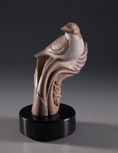 Tiny Sparrow, Huge Deal, sculpture by Ellen Woodbury
