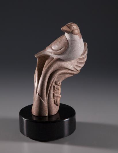 Tiny Sparrow, Huge Deal, sculpture by Ellen Woodbury