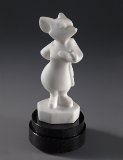 Codename White Mouse, Espadrilles, sculpture by Ellen Woodbury