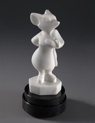 Codename White Mouse, Espadrilles, sculpture by Ellen Woodbury