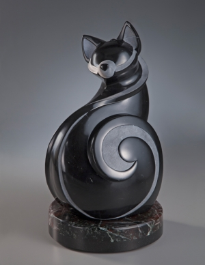 ellen-woodbury-feline-improvisation-sculpture-cat