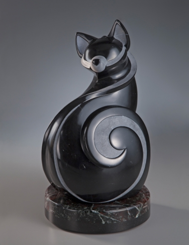 Feline Improvisation, sculpture by Ellen Woodbury