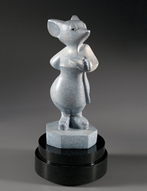 Codename White Mouse, Bronze, sculpture by Ellen Woodbury