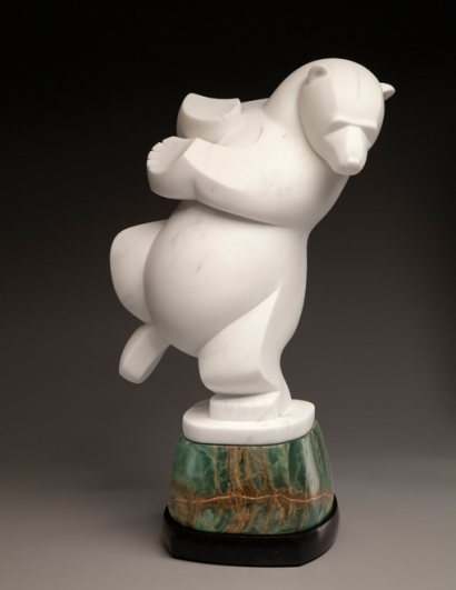 Dancing On Thin Ice, stone, sculpture by Ellen Woodbury