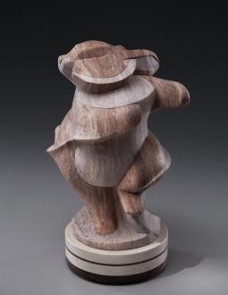 Bunny Whirl, stone sculpture by Ellen Woodbury
