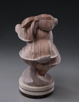 Bunny Whirl, stone sculptur by Ellen Woodbury, View 2