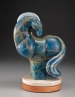 Blue, sculpture by Ellen Woodbury