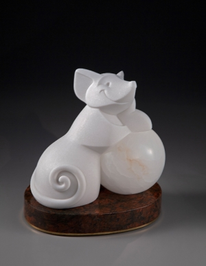 ellen-woodbury-two-pearls-sculpture-mouse