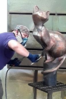 Ed Darchuk creates the patina