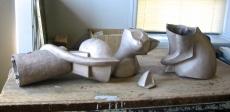 Top cat bronze in pieces
