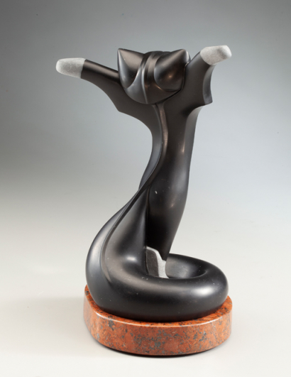 Celebrate Back View, sculpture by Ellen Woodbury